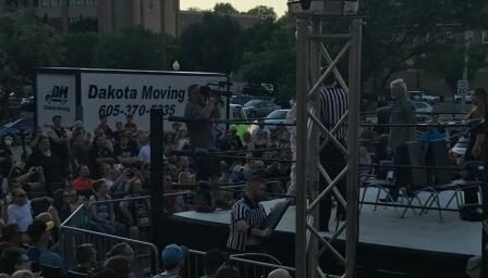 Dakota Moving at Wrestling Show